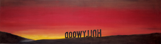 Ed Ruscha, The Back of Hollywood, 1977