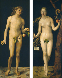 D&#252;rer, <i>Adam and Eve</i>, 1507 © Museo del Prado (Espa&#328;a)