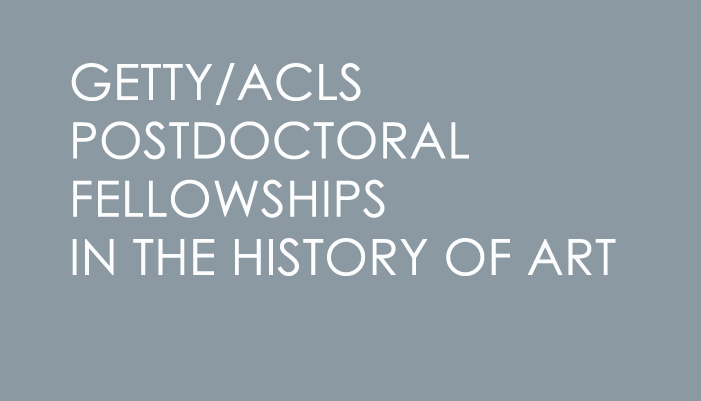 Getty/ACLS Postdoctoral Fellowships