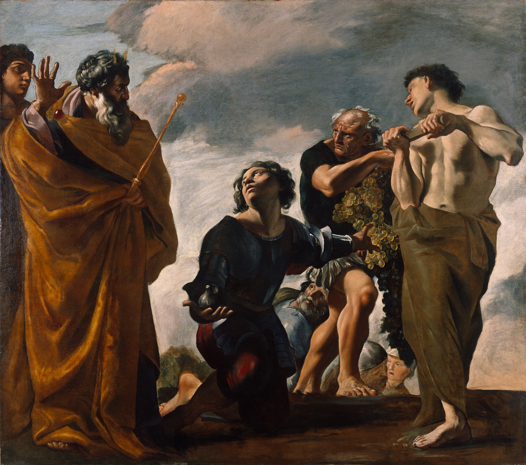 Moses And The Messengers From Canaan (Getty Museum)
