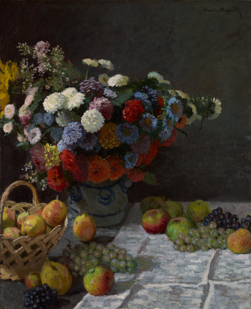 Still Life with Flowers and Fruit. No description of this image is  available.
