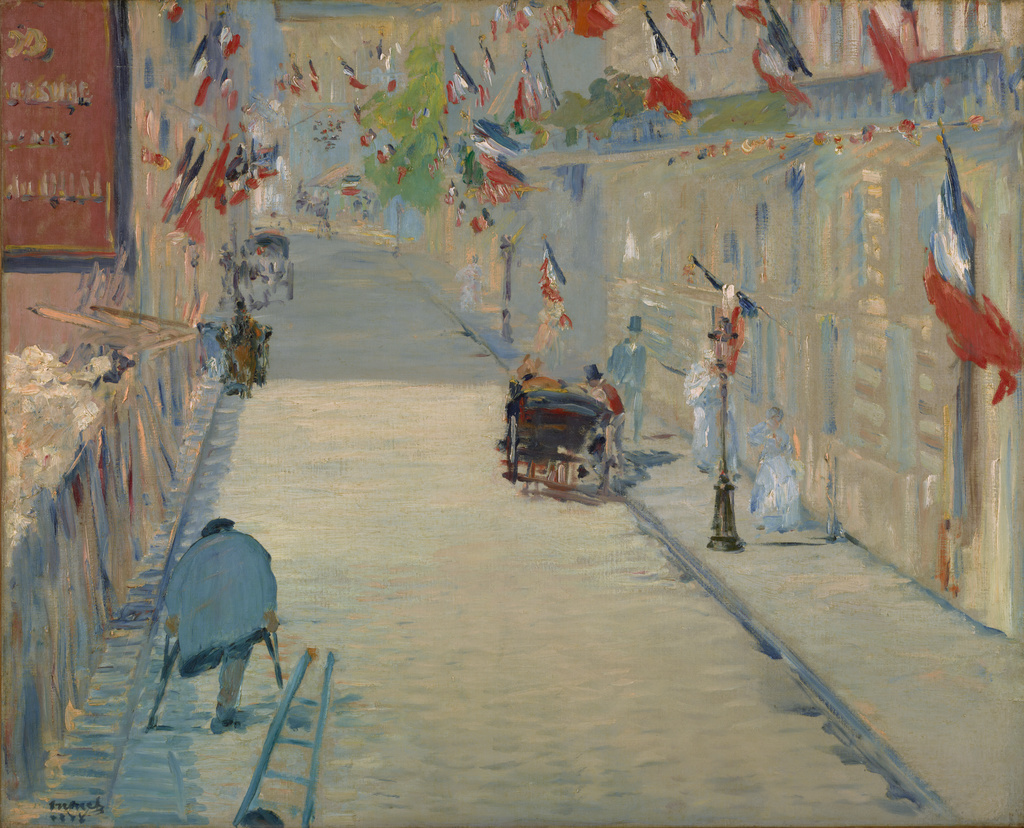 The Rue Mosnier with Flags (Getty Museum)