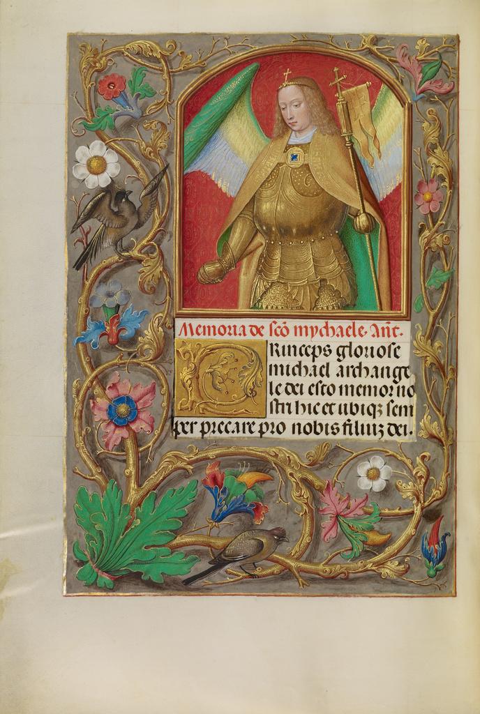 Connect The Colors >> Saint Michael (Getty Museum)