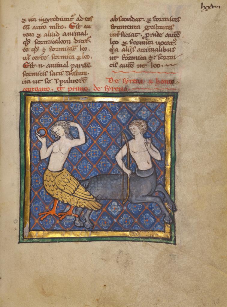 A Siren and a Centaur (Getty Museum)