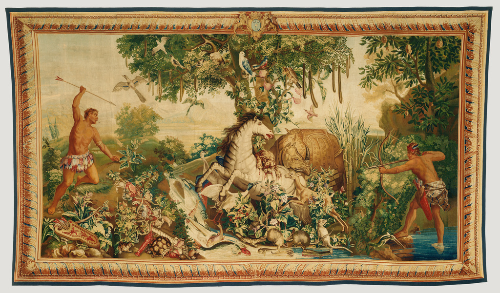 Tapestry Le Cheval Ray 233 From Les Anciennes Indes Series