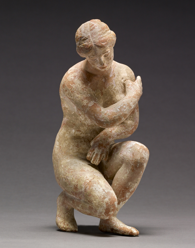 Modern Imitation Of A Statuette Of A Crouching Aphrodite