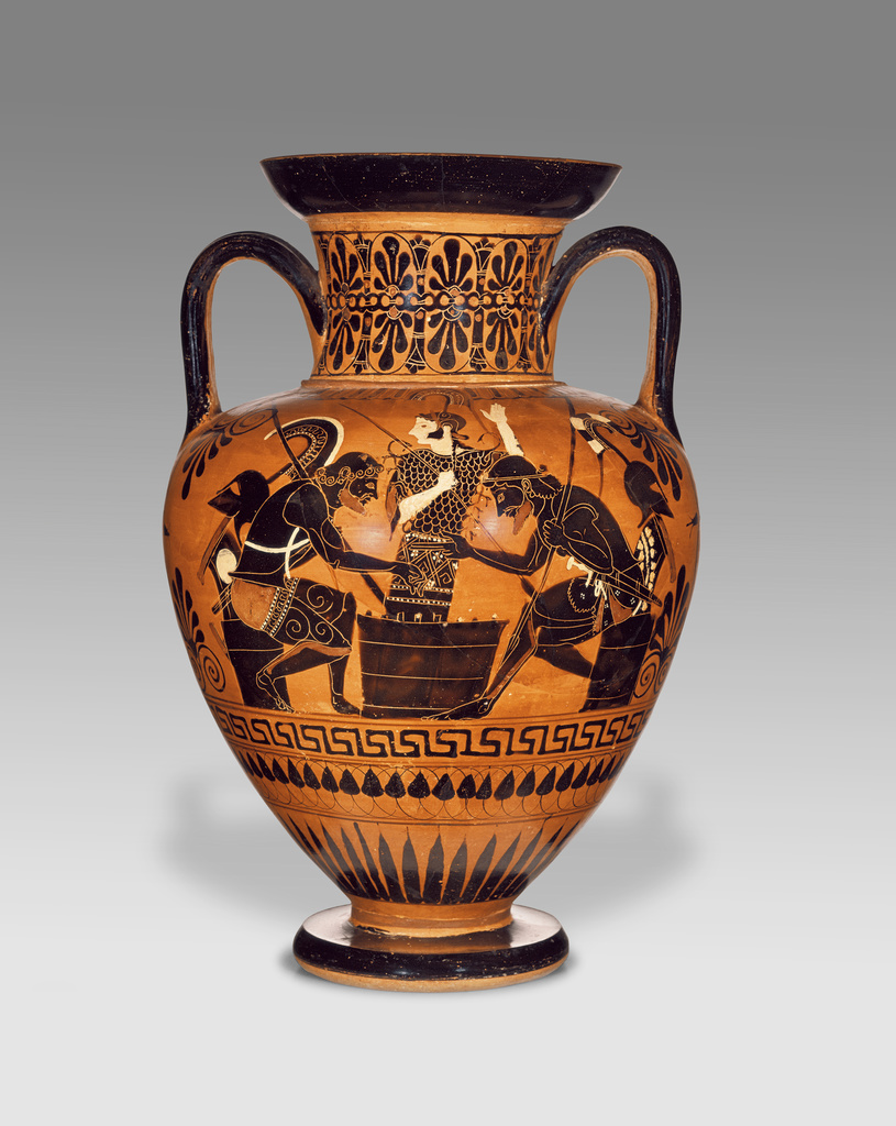 Attic Black Figure Neck Amphora Getty Museum