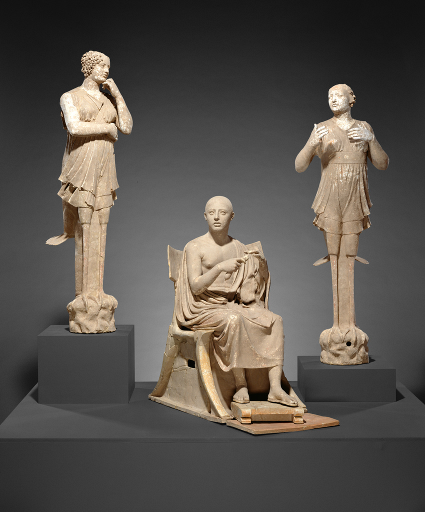 Sculptural Group Of A Seated Poet And Sirens 2 With