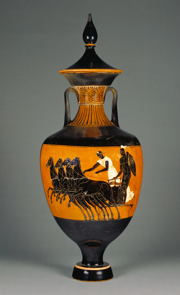 Attic Panathenaic Amphora With Lid Getty Museum
