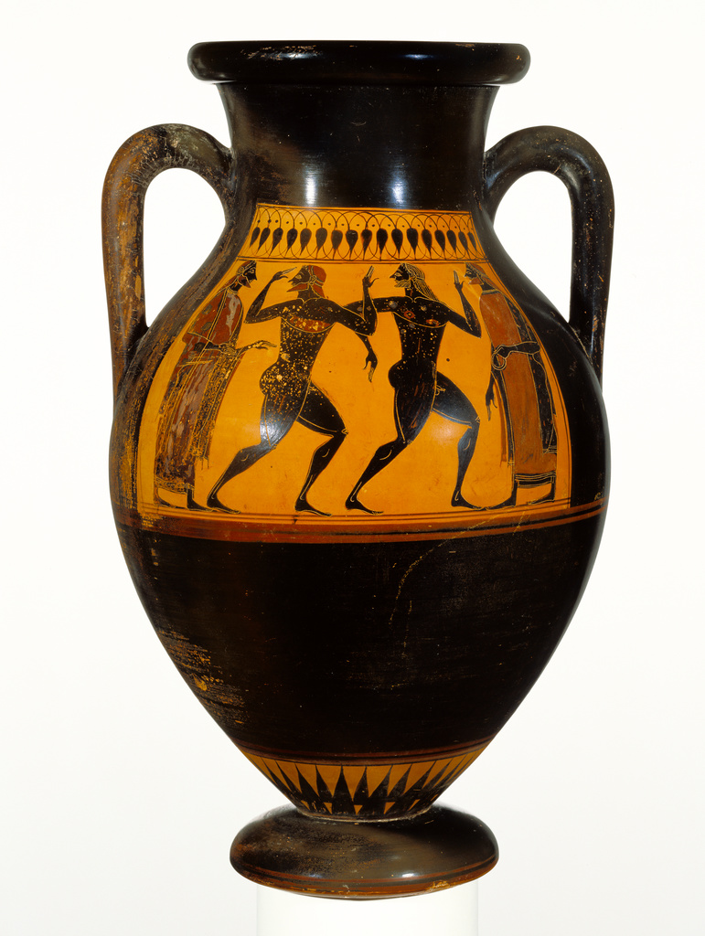 Black Figure Amphora Getty Museum