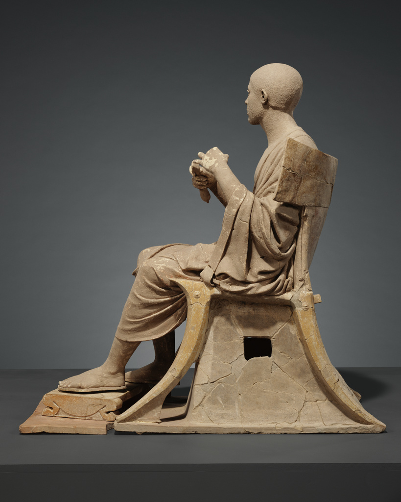 Statue Of A Seated Poet Orpheus Getty Museum