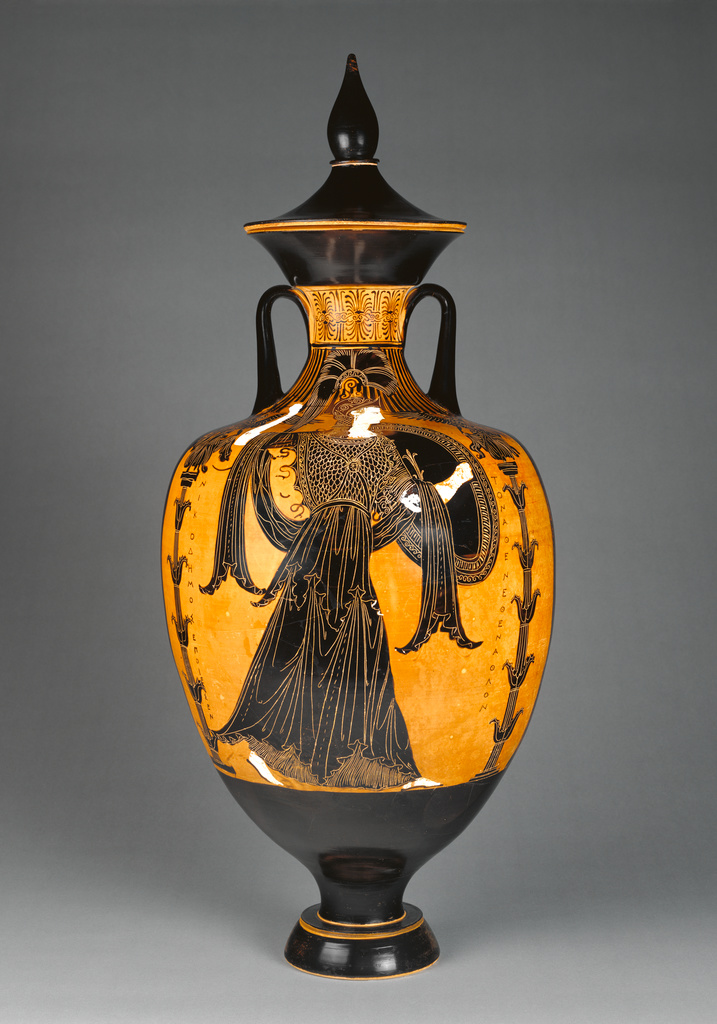 Panathenaic Prize Amphora With Lid Getty Museum
