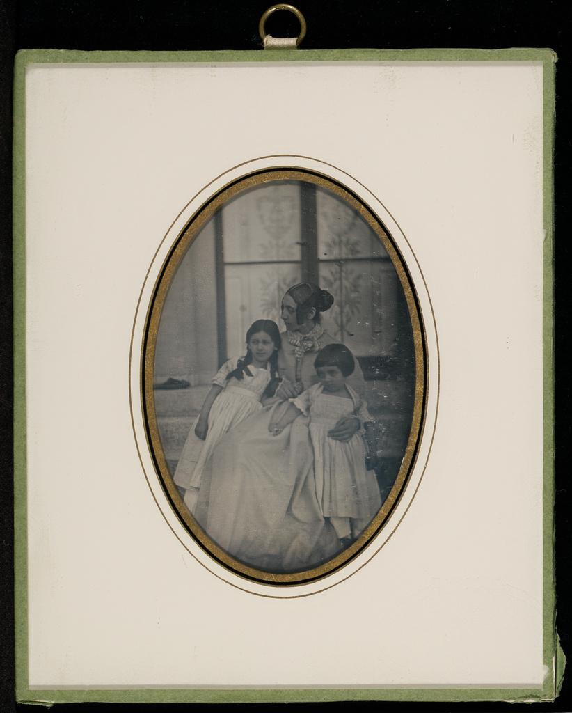 Gsg Q Portrait Of Sophie Eynard Eynard And Two Of Her