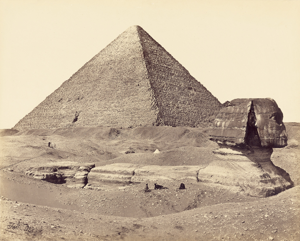 The Great Pyramid and the Sphinx (Getty Museum)