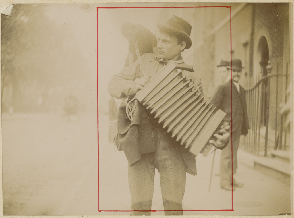 Accordion player with monkey] (Getty Museum)