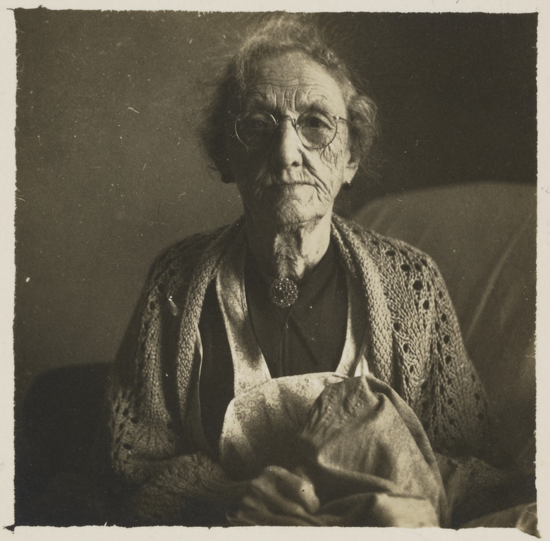 [Old Woman with Crochet Shawl] (Getty Museum)