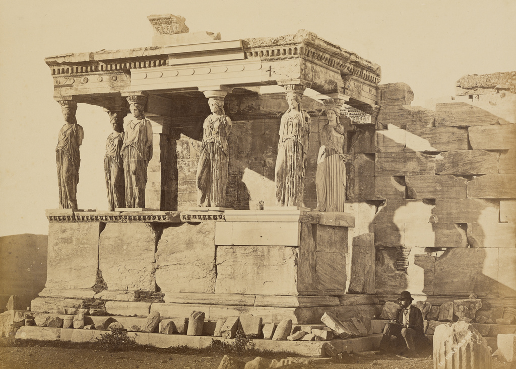 the caryatid porch of the erechtheion athens getty museum