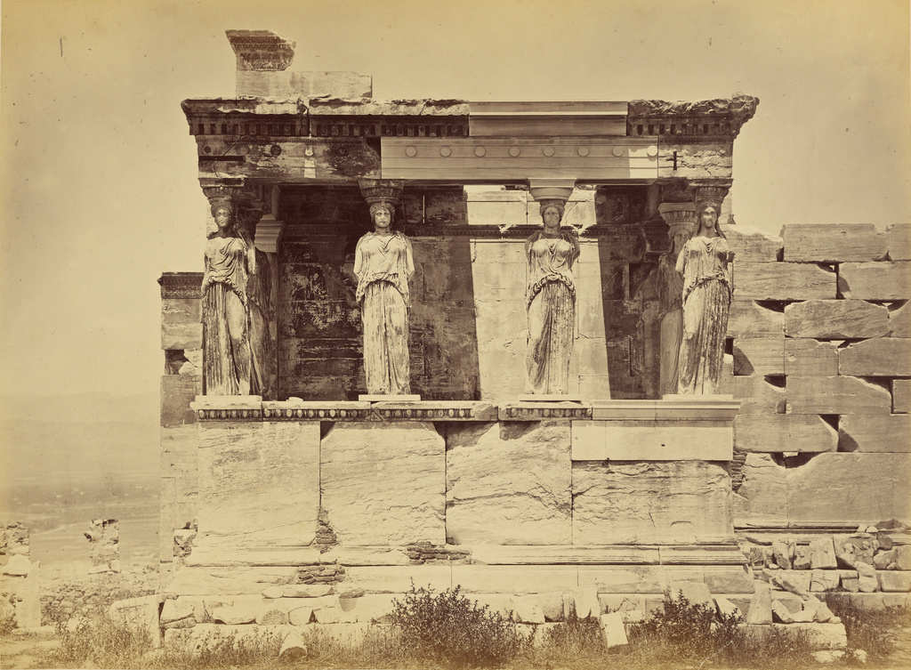 athens erechtheion caryatid porch getty museum