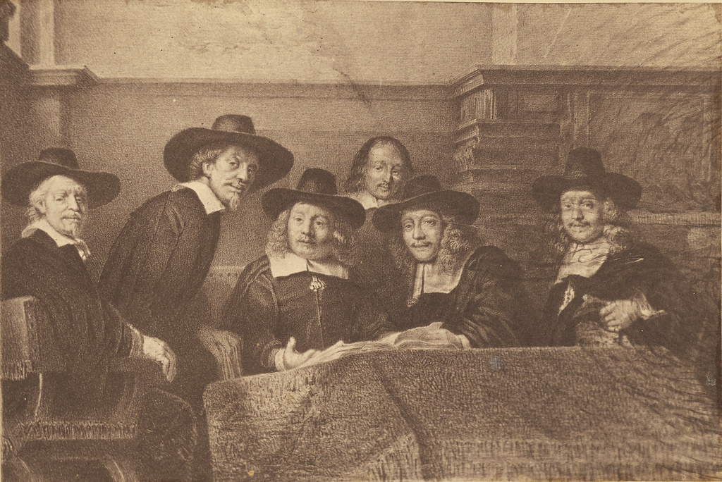 [Syndics of the Drapers' Guild by Rembrandt] (Getty Museum)