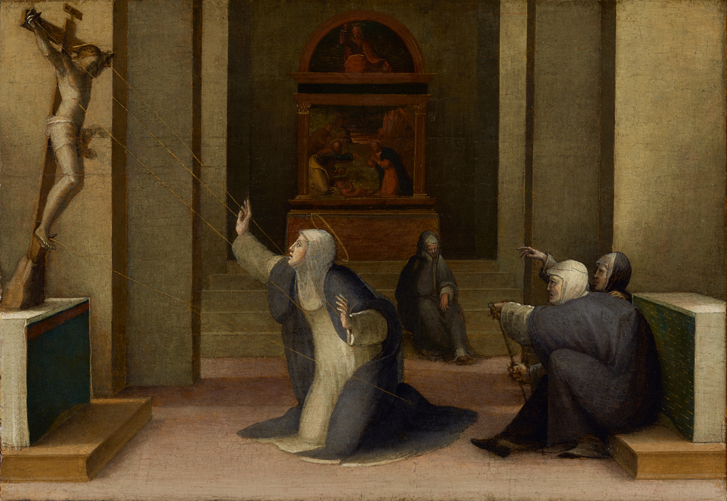 saint catherine of siena receiving the stigmata getty museum