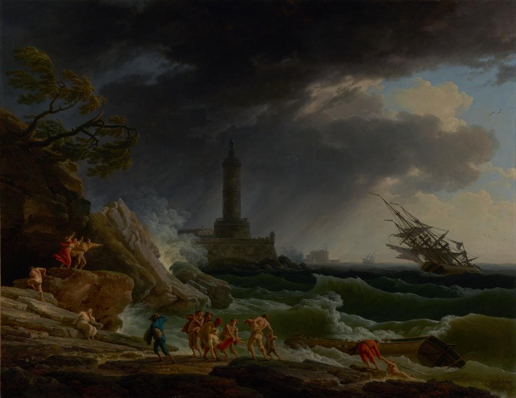 A Storm On A Mediterranean Coast Getty Museum