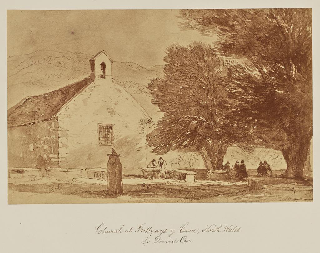Church at Bettywys y Coid, North Wales. by David Cox ...