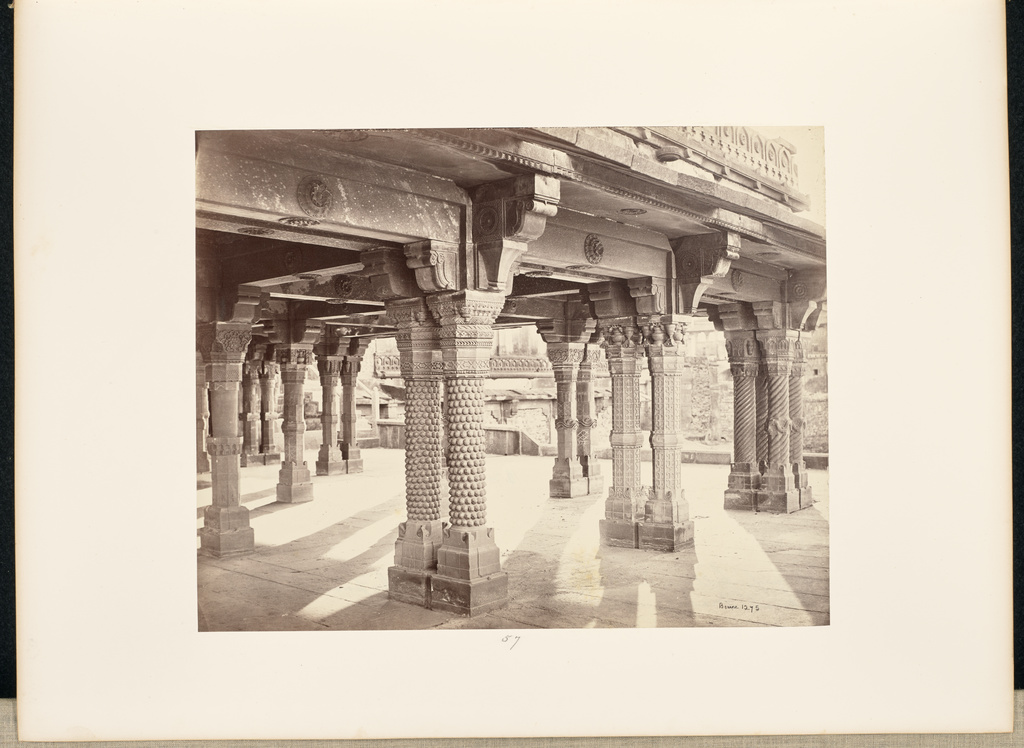 futtypore sikri carved pillars in the panch mehal getty museum