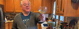 Ken Albala making the hippocras recipe