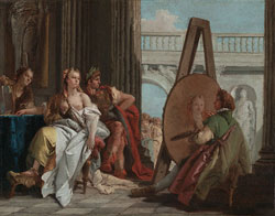 Alexander the Great and Campaspe in the Studio of Apelles / Tiepolo