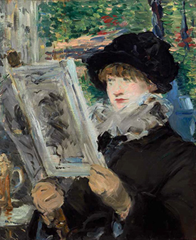 Woman Reading, painting by Manet