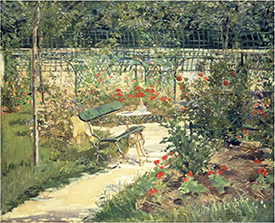 My Garden (The Bench), painting by Manet