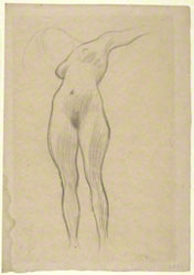 Floating Woman with Extended Arm (Study for 'Medicine') / Klimt