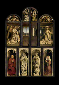 The Ghent Altarpiece Closed, Overview of the closed altarpiece / van Eyck