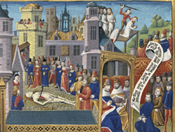Scenes from the Life of Lucretia / Second Master of the Cité de Dieu of Mâcon, Master of the Psalter of Jean le Meingre III, and Master of the Munich Boccaccio