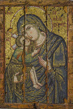 Mosaic Icon with the Virgin and Child