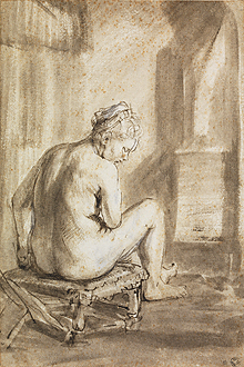Seated Female Nude / de Gelder