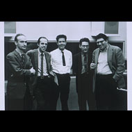 Arnold / Christian Wolff, Earle Brown, John Cage, David Tudor, and Morton Feldman at the Capitol Records Studio in New York