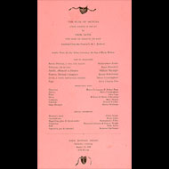 Program for a performance of Erik Satie's The Ruse of Medusa