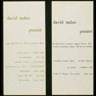 Programs for recitals by David Tudor at Black Mountain College