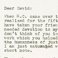Feldman / Letter to David Tudor about Intersection 3