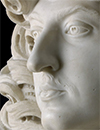 sculpture detail, face of Louis XIV