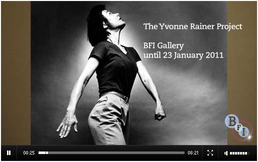 Video still from the Yvonne Rainer Project