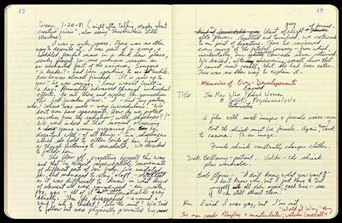 Audio: Yvonne Rainer reads from her open journal.