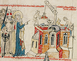Saint Hedwig and the New Convent (detail) in Life of the Blessed Hedwig, 1353