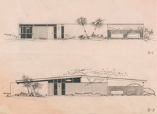 Architectural drawing of the Racquet Club Estates / Krisel