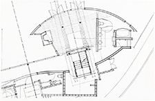 Schematic drawing of Goldberg-Bean House / Israel