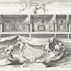 Print of the Interior of the Palazzo Cervelli in Ferrara / Bolzoni