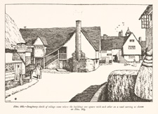 Illustration of an imaginary village / Unwin