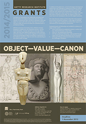 2014-2015 Scholar Year Poster: Object Value Canon