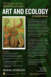 2019-2020 Scholar Year Poster: Art and Ecology
